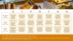 Dining Hall Digital Menu Board