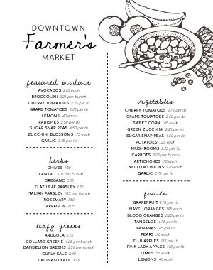 Simple Farmers Market Poster