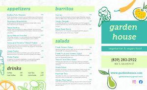 Garden Vegan Takeout Menu