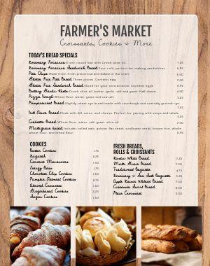 Farmstand Menu Poster