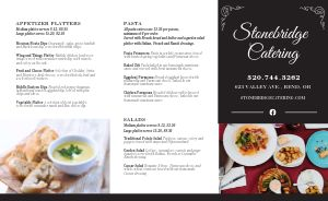 Example Catering Takeout Menu