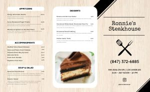 Contemporary BBQ Takeout Menu