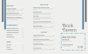 Tavern BBQ Takeout Menu