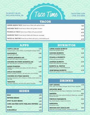 Taco Food Cart Menu Poster