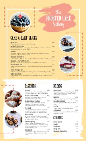Essential Bakery Menu