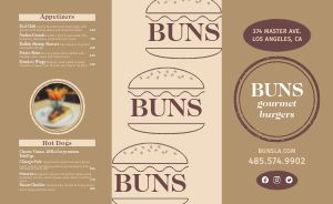 Customizable Burger Takeout Menu