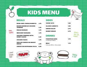 Green Kids Menu