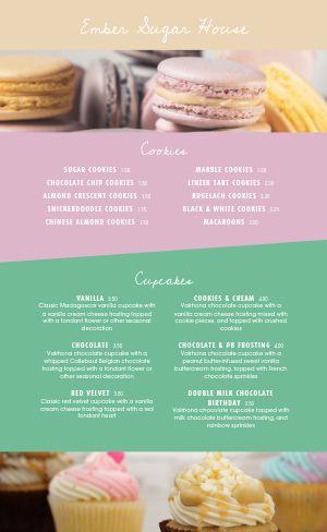 Gourmet Dessert Menu