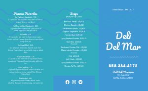 Seaside Deli Takeout Menu