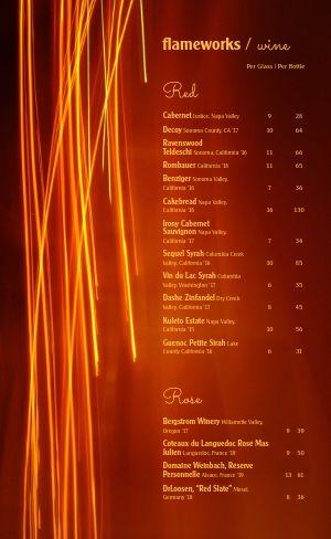 Contemporary Wine List
