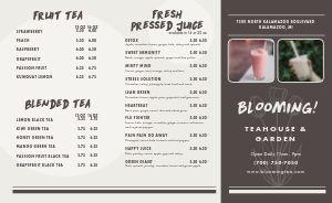 Customizable Tea Takeout Menu
