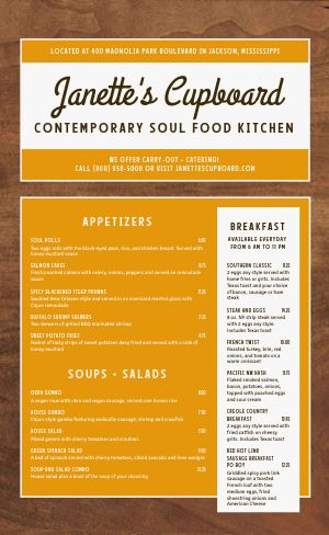 Soul Food Kitchen Menu