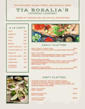 Example Party Platter Menu