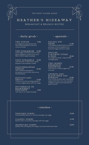 Breakfast Bistro Menu