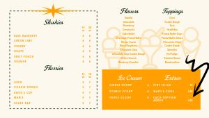 Ice Cream Digital Menu Board