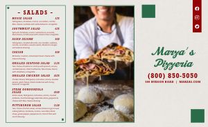 Classic Pizza Takeout Menu Example